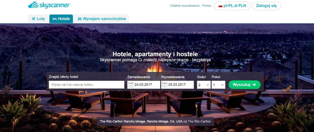 Skyscanner Hotele